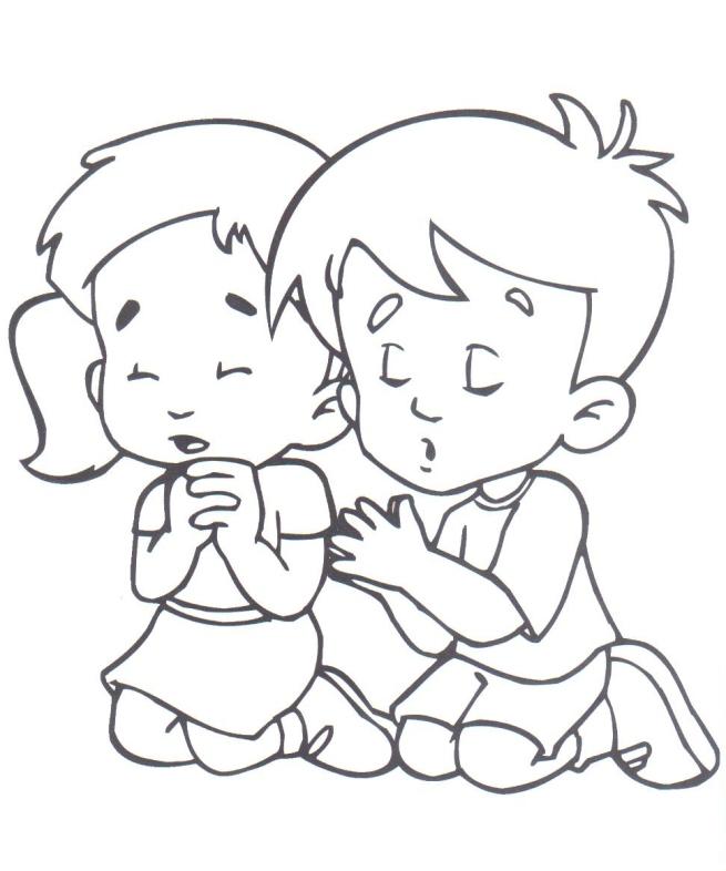 niña niño orando « parvulines