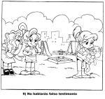 9 No hablarás falso testimonio