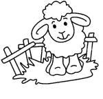 Colorea la oveja
