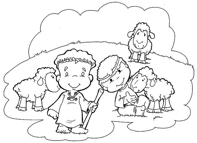 Dibujos de pastor con ovejas para colorear  Imagui