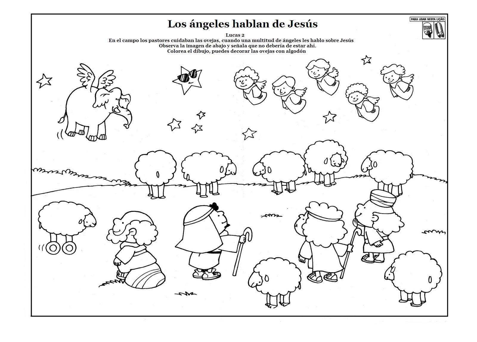 El Angel Que Anuncio El Nacimiento De Jesús A Los Pastores