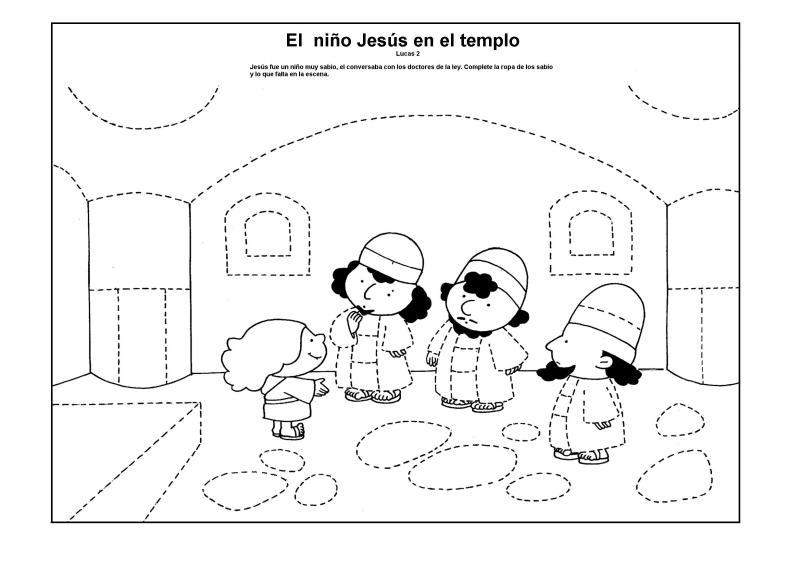 El niño Jesús en el templo 3
