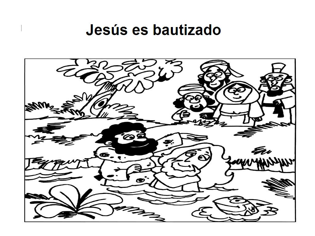 Mis puntadas preferidas: DIbujos para iluminar-Bautismo de Jesús